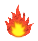 Fire icon, from Fire and Flora v12, 150 pix wide.